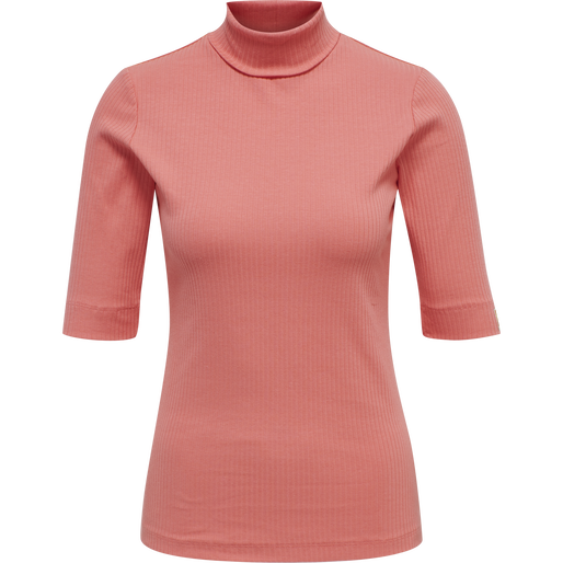 hmlBELL TURTLENECK S/S, TEA ROSE, packshot