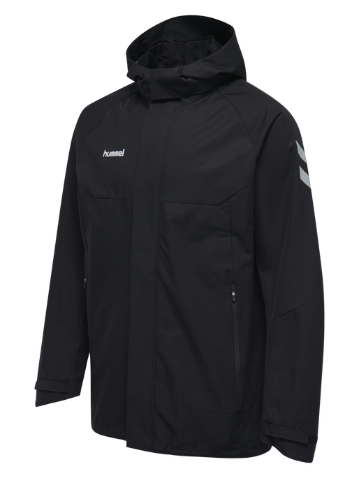 TECH MOVE KIDS ALL WEATHER JACKET, BLACK, packshot