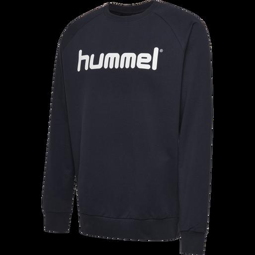 HUMMEL GO COTTON LOGO SWEATSHIRT, MARINE, packshot