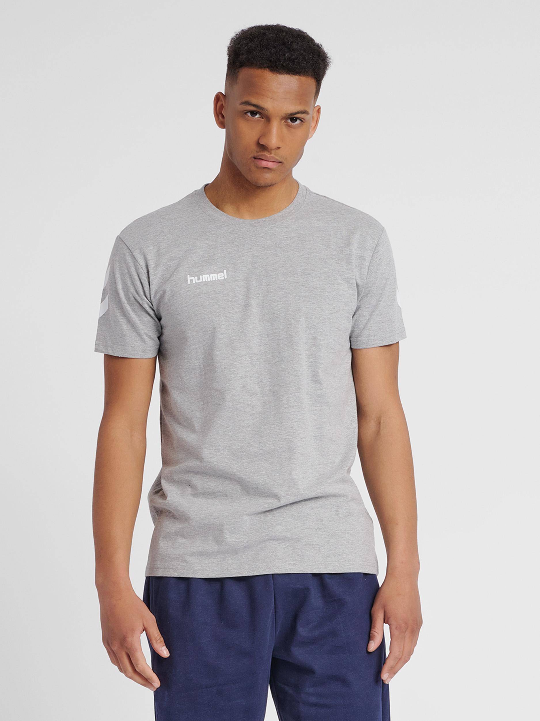 hummel T-shirt med vinkler på ærmerne grå Herre