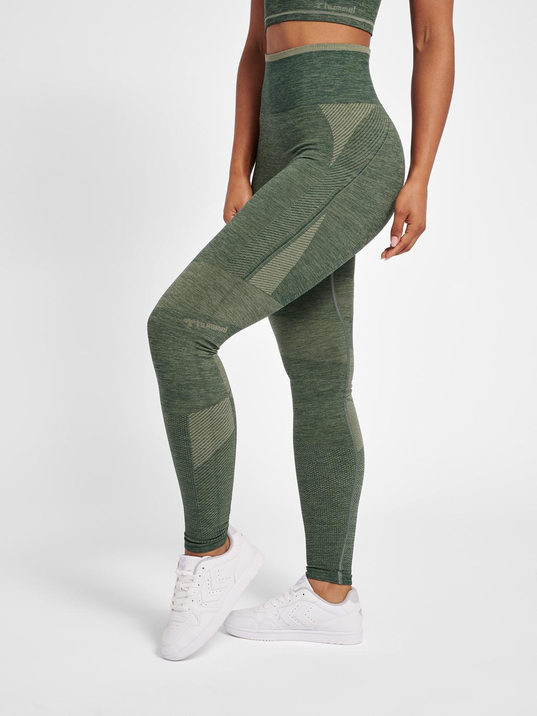 hummel Højtaljede seamless tights HmlSKY grøn Dame