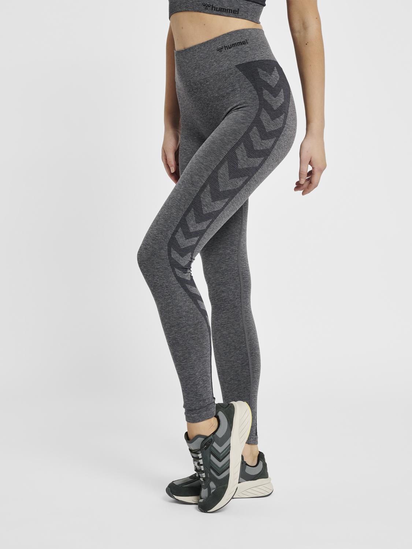 hummel Seamless sportstights med normal taljehøjde HmlCOCO grå Dame